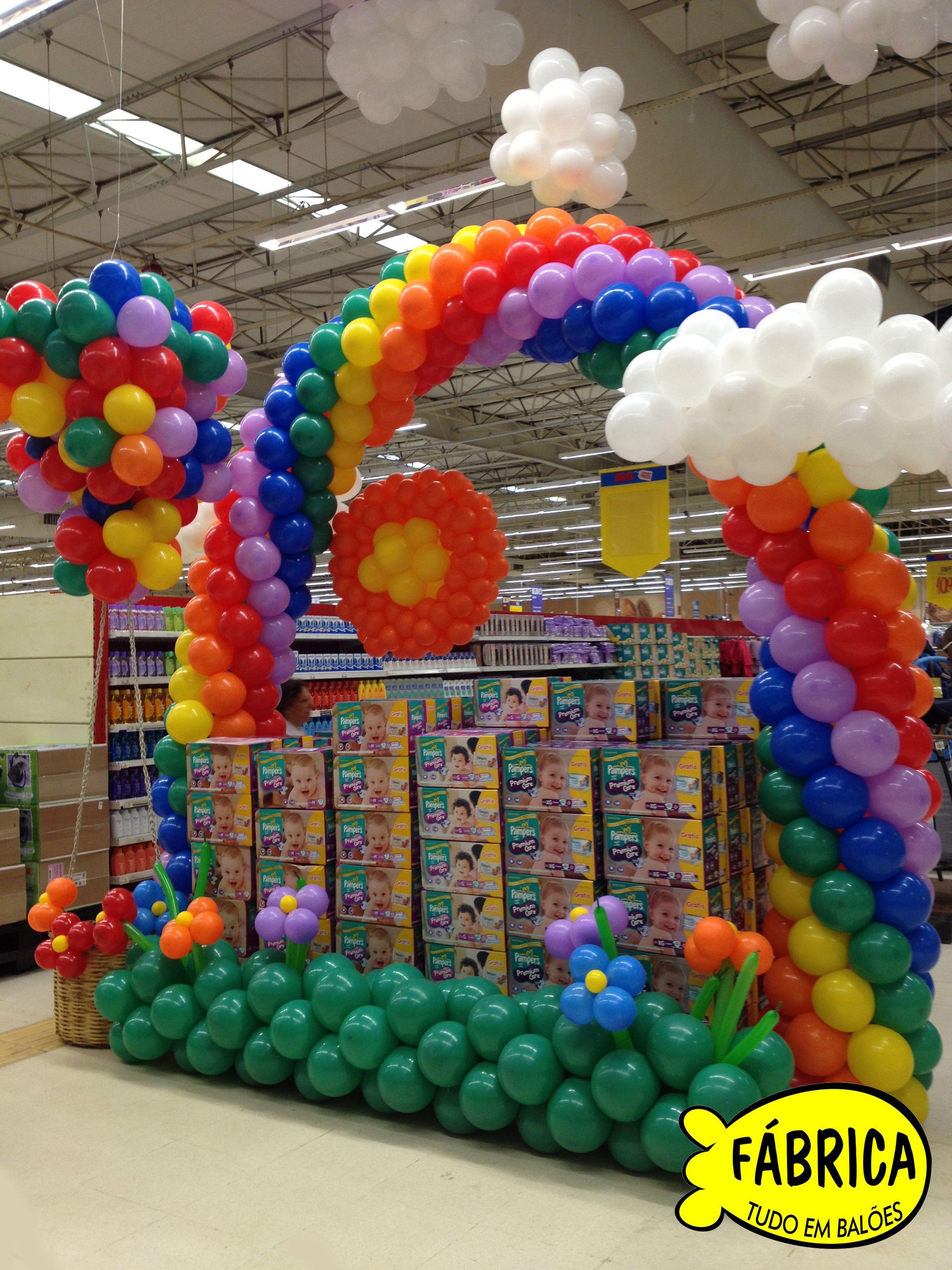 Decora o supermercado big painel de bexigas pinterest for Decoracion de supermercados