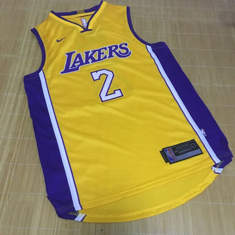 mens los angeles lakers 2 lonzo ball new yellow 2017 2018 nike swingman  stitched nba jersey 4064333db
