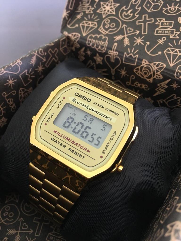 026e1dddfbd3 Reloj Casio Dorado – Vintage como en los 90 s – Que Moda