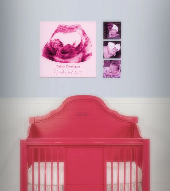 Ultrasound frame no print digital copy only by ultrasoundartwork baby shower gift ultrasound canvas print babys room decor professional canvas this would be a cute idea 2 do for zoeys room negle Images