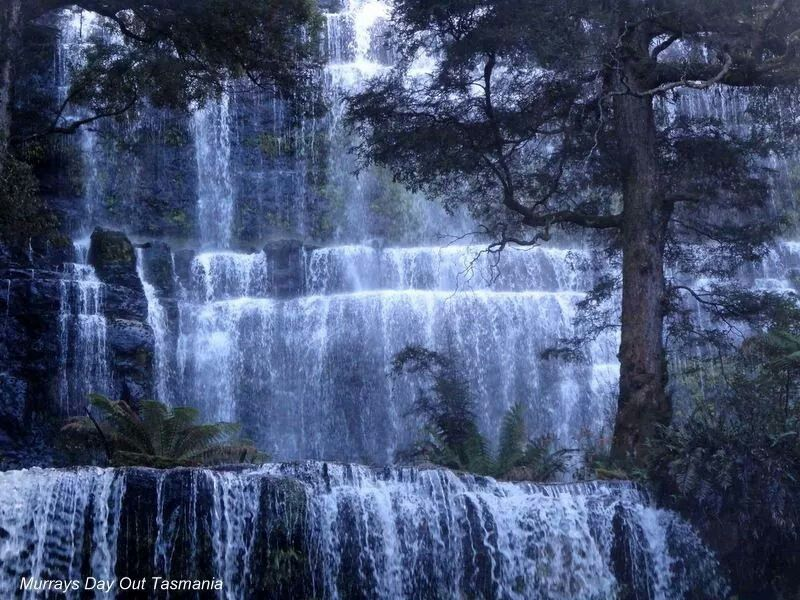 Russell Falls Southern Tasmania 24.5.2014 Pure Magic. Photo CREDIT to Murrays Day out tasmania