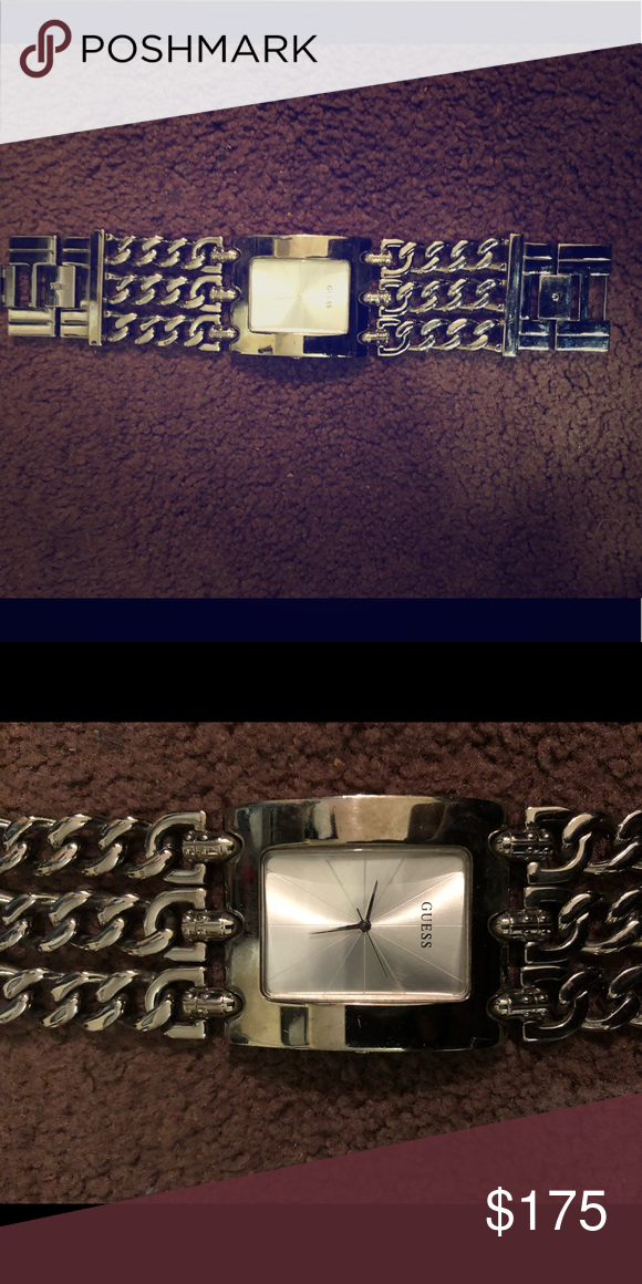b31ea711390e Very nice Chain link Guess watch 100% Authentic Amazing GUESS chain link  watch for men