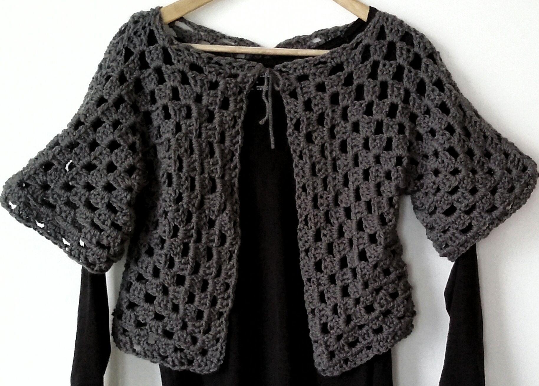 جاكيت كروشيه غرزة جراني خطوة بخطوة Granny Square Fashion Crochet