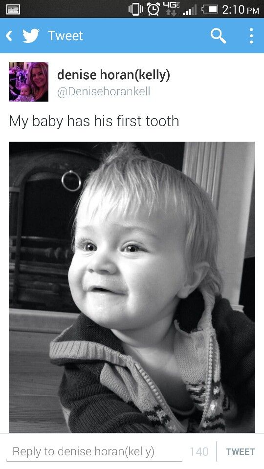 Awwwwwww. Theo(Niall's Nephew) has his first tooth!!  <3