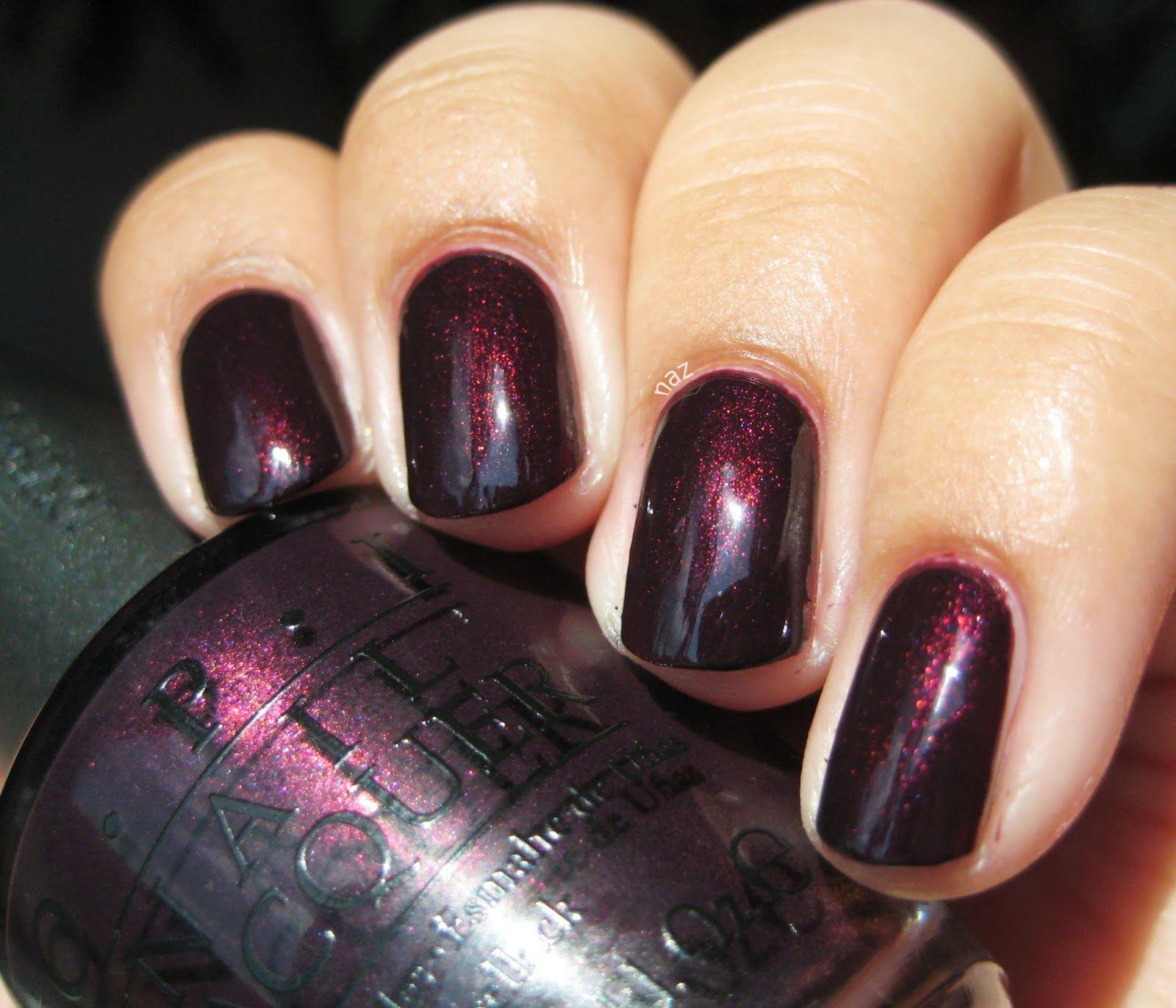 OPI \'Black Cherry Chutney\' colour #nails #nailpolish #manicure #OPI ...