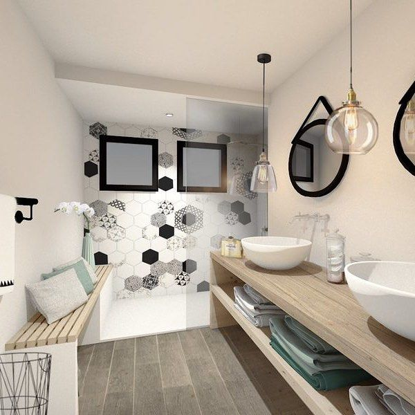Projet du0027une petite salle de bain je suis tombée amoureuse du - carrelage salle de bain petit carreaux