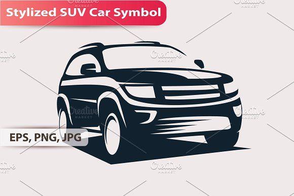Stylized Suv Car Symbol By Janna Millionnaya On Creativemarket