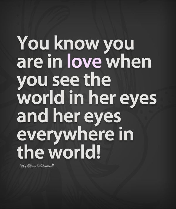 Deep Thoughts  C B You Know You Are In Love When You See Quotes