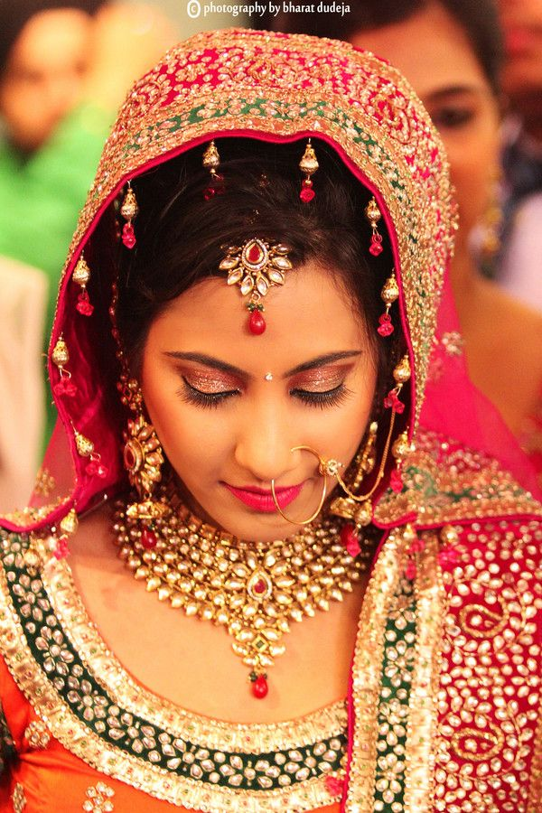 Bridal Make Up Lengha Indian Wedding Day