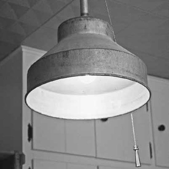 Homemade Light Fixture For A Rustic Kitchen