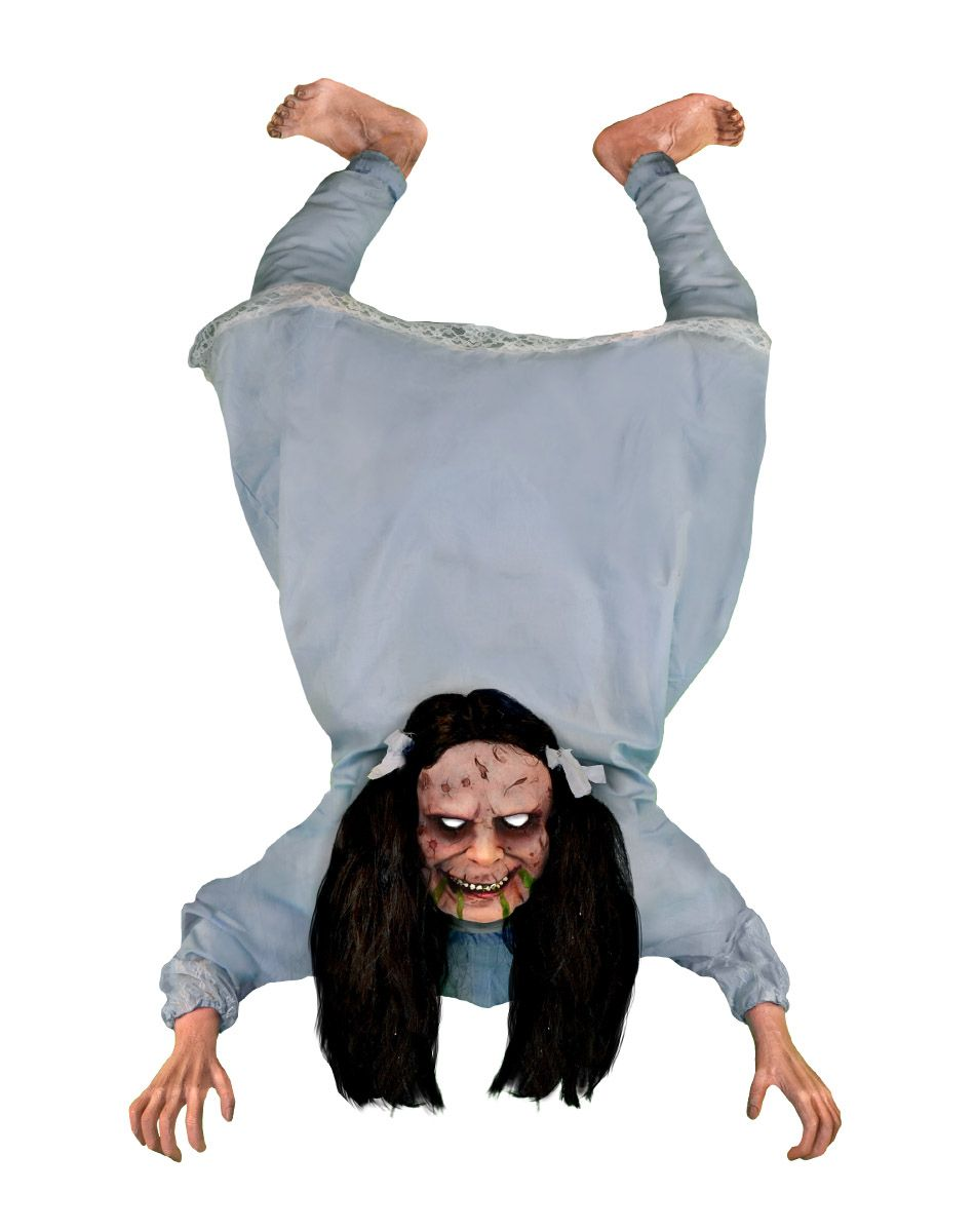 possessed wall hanging girl animated decoration exclusively at spirit halloween freak out all of your - Spirit Halloween Decorations