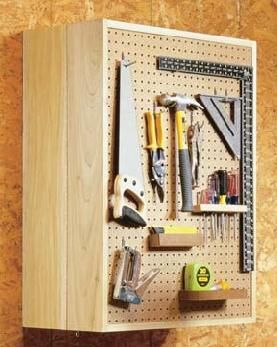 How To Build A Pegboard Storage Cabinet Pegboard Storage Garage