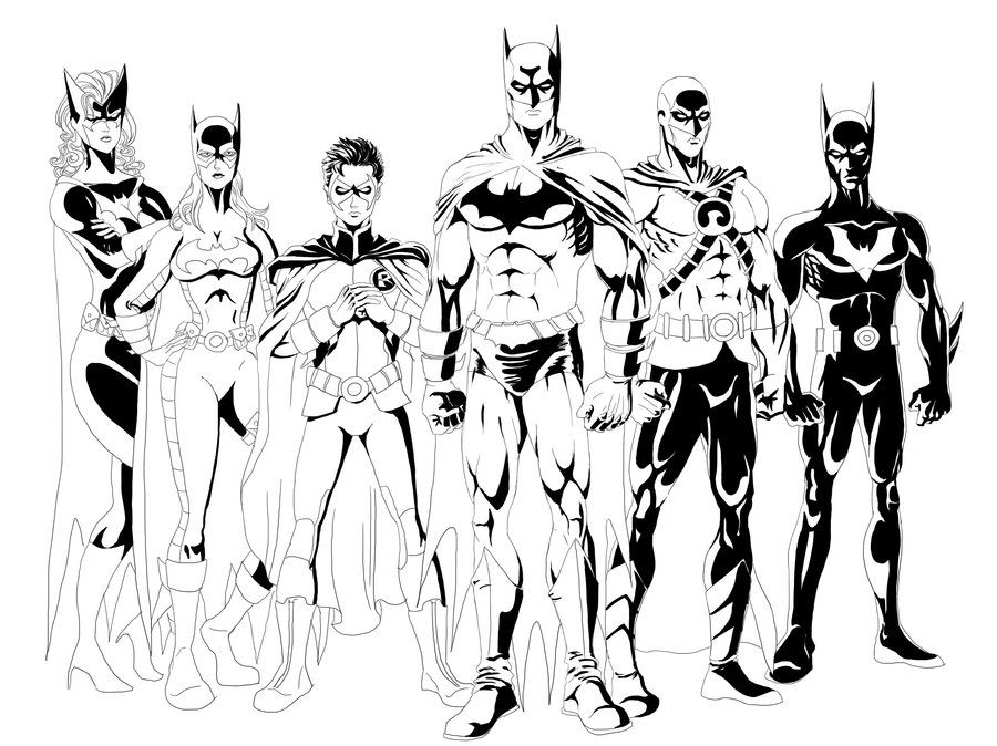 Bat Family Inked By Qbatmanp Jpg Superheroes Pinterest