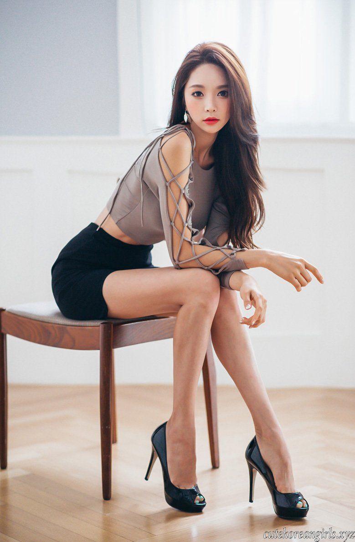 Three sexy women legs stock photo