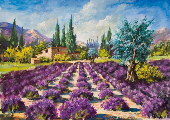 Lallemand yves peinture paysages proven ales paysage pinterest provence - Peinture couleur lavande ...