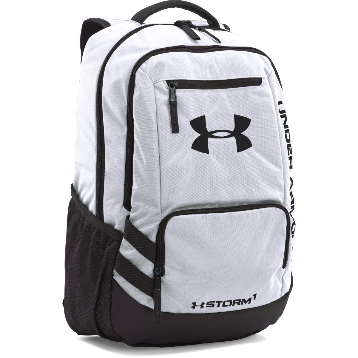 Under Armour White UA Team Hustle Backpack in 2019  d3b5b29fee632