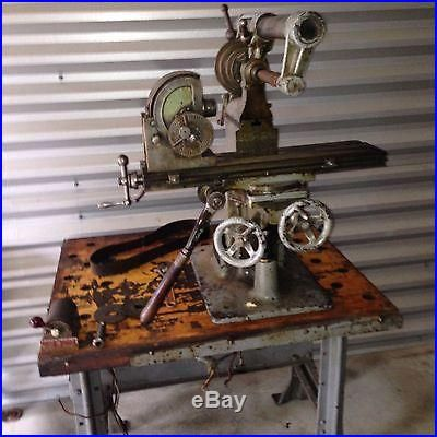 B C Ames Universal Bench Milling Machine Small Antique