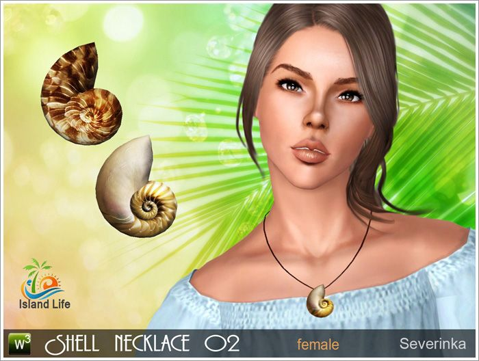 Shell Necklace Severinka Sims 4 Sims Mods The Sims 4