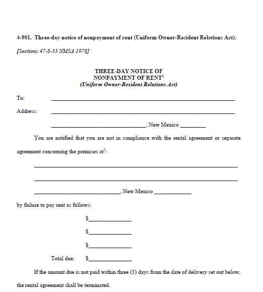 Printable Sample 3 Day Eviction Notice Form