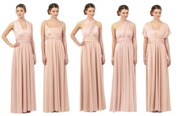 Debenhams Debut Light Pink Multiway Evening Dress | wedding ...