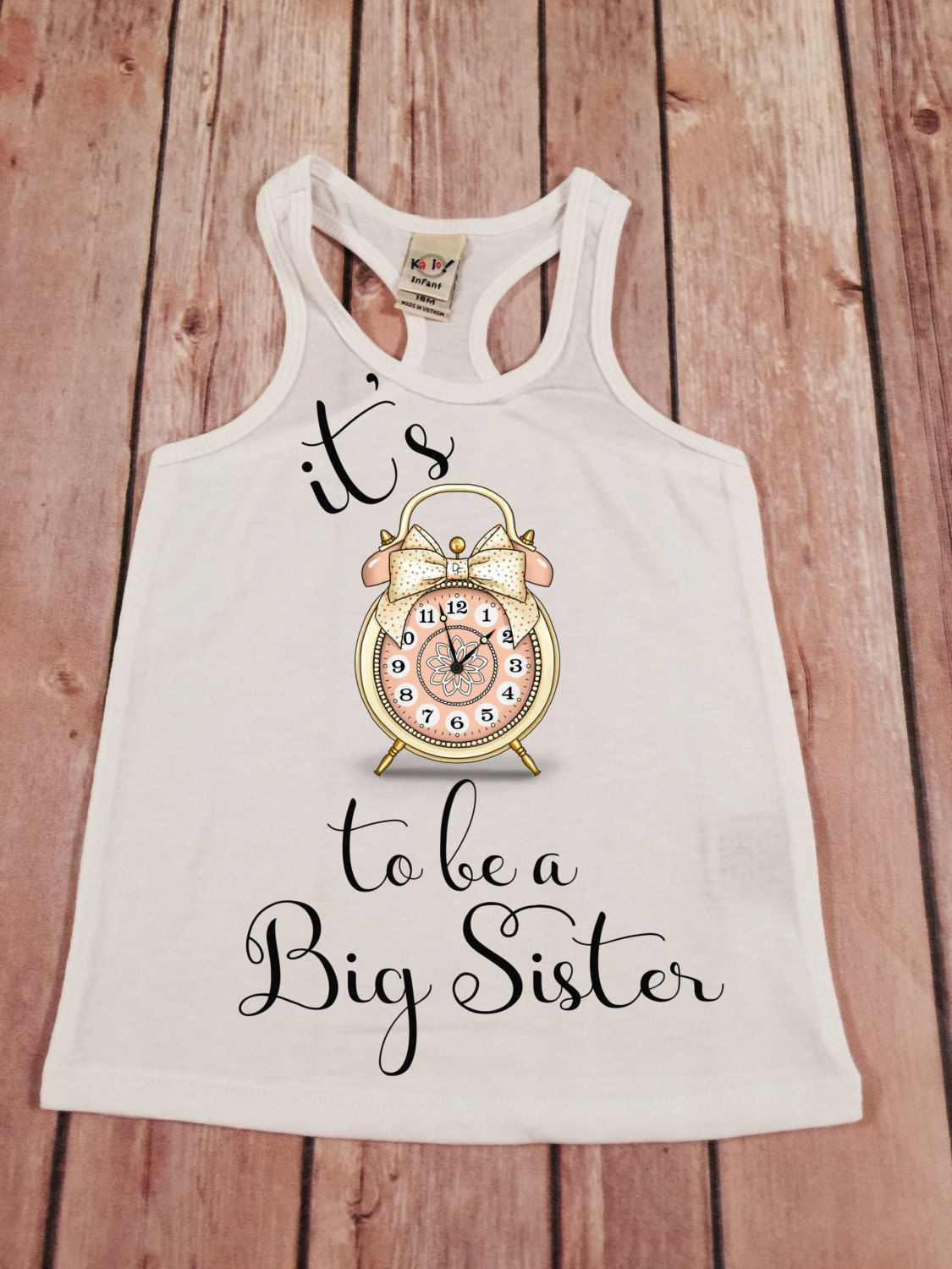 Big Sister Shirt Its Time To Be A Big Sis Shirt Personalized Shirt