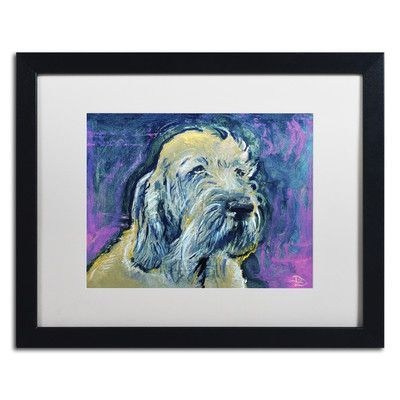 "Red Barrel Studio Inspector Spinone Giclée Framed Painting Print Size: 16"" H x 20"" W x 0.5"" D"