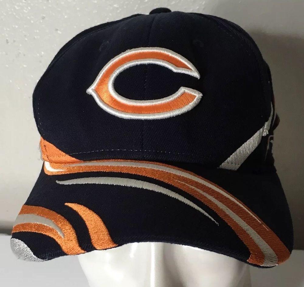 f08319a6b36c1 Chicago Bears Reebok Hat Cap Lid Blue Orange White Flexfit NFL Football   Reebok  ChicagoBears
