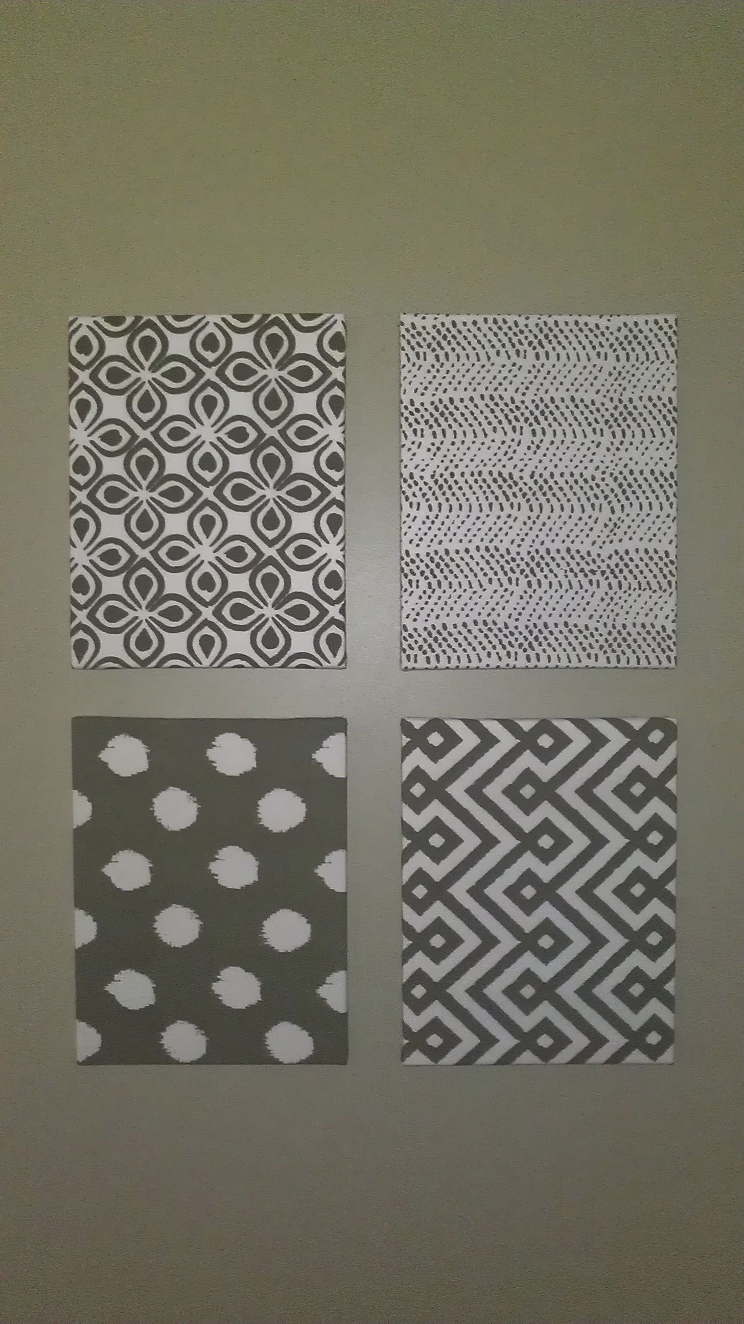 Homemade art using canvases from Hobby Lobby cheap and napkins