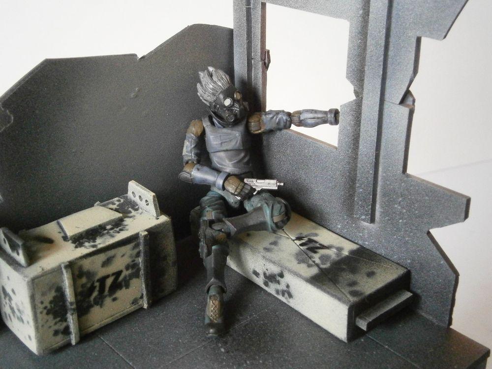 Gi Joe Acid Rain Accessorie 1//18 Scale Modular Weapon For Custom Builds