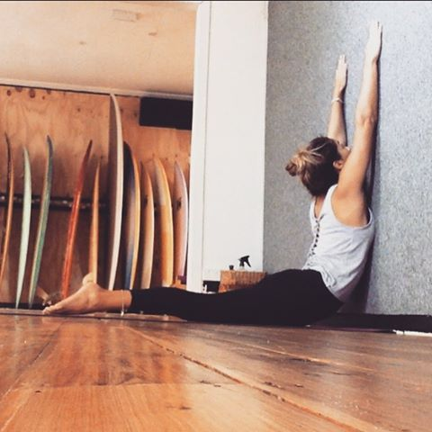 forget the mat try these 25 wall yoga poses  wall yoga