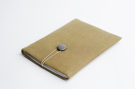 Macbook Air 13 inch sleeve, moss green, available with a pocket on Etsy, $35.12
