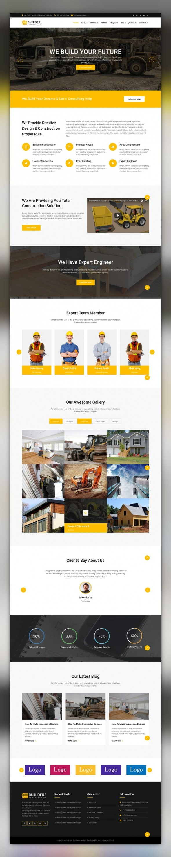 builder construction company joomla template business website corporate business and template. Black Bedroom Furniture Sets. Home Design Ideas