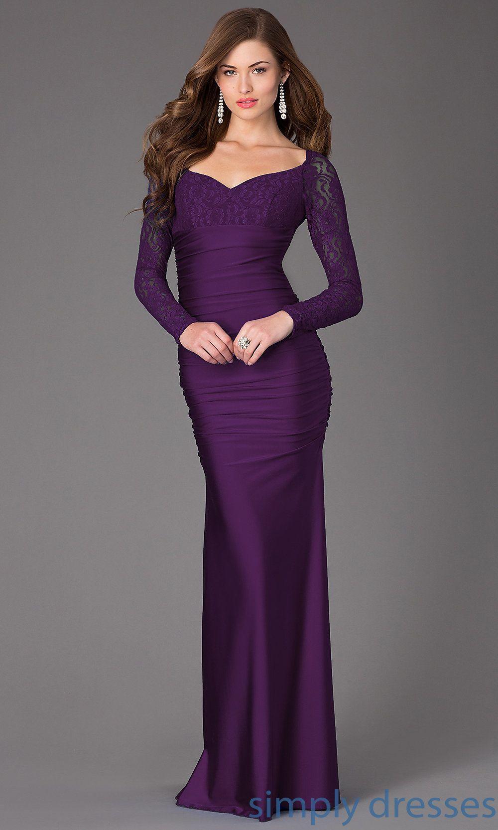 Long Sleeved Floor Length Dress | Pinterest | Floor length dresses ...