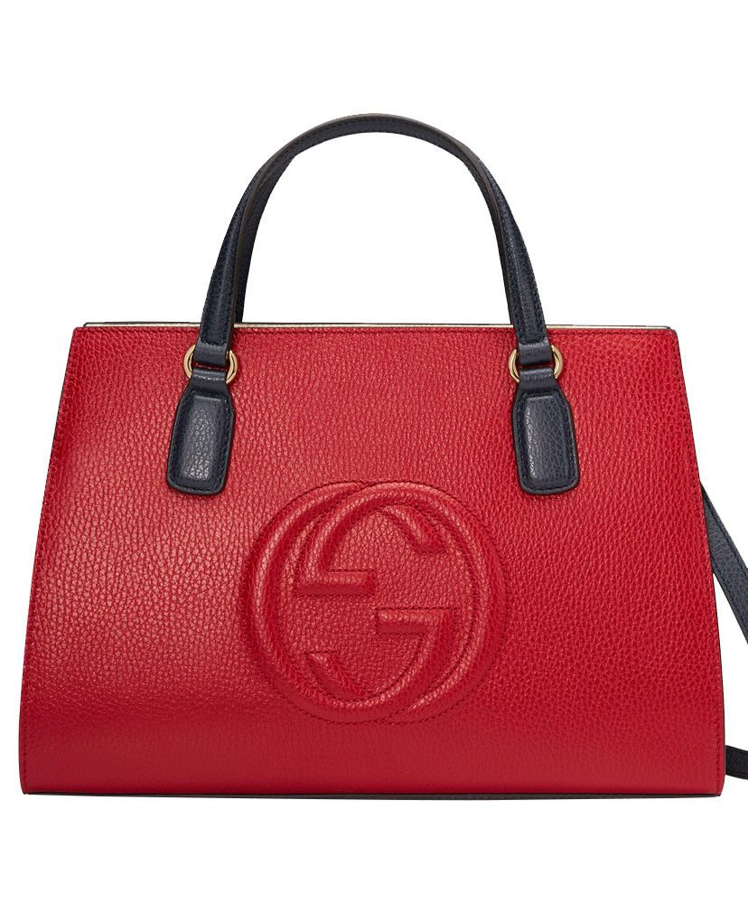 db9ac25eb31e51 Gucci Soho GG leather top handle bag 431571 in red. Gucci Handbag for women.