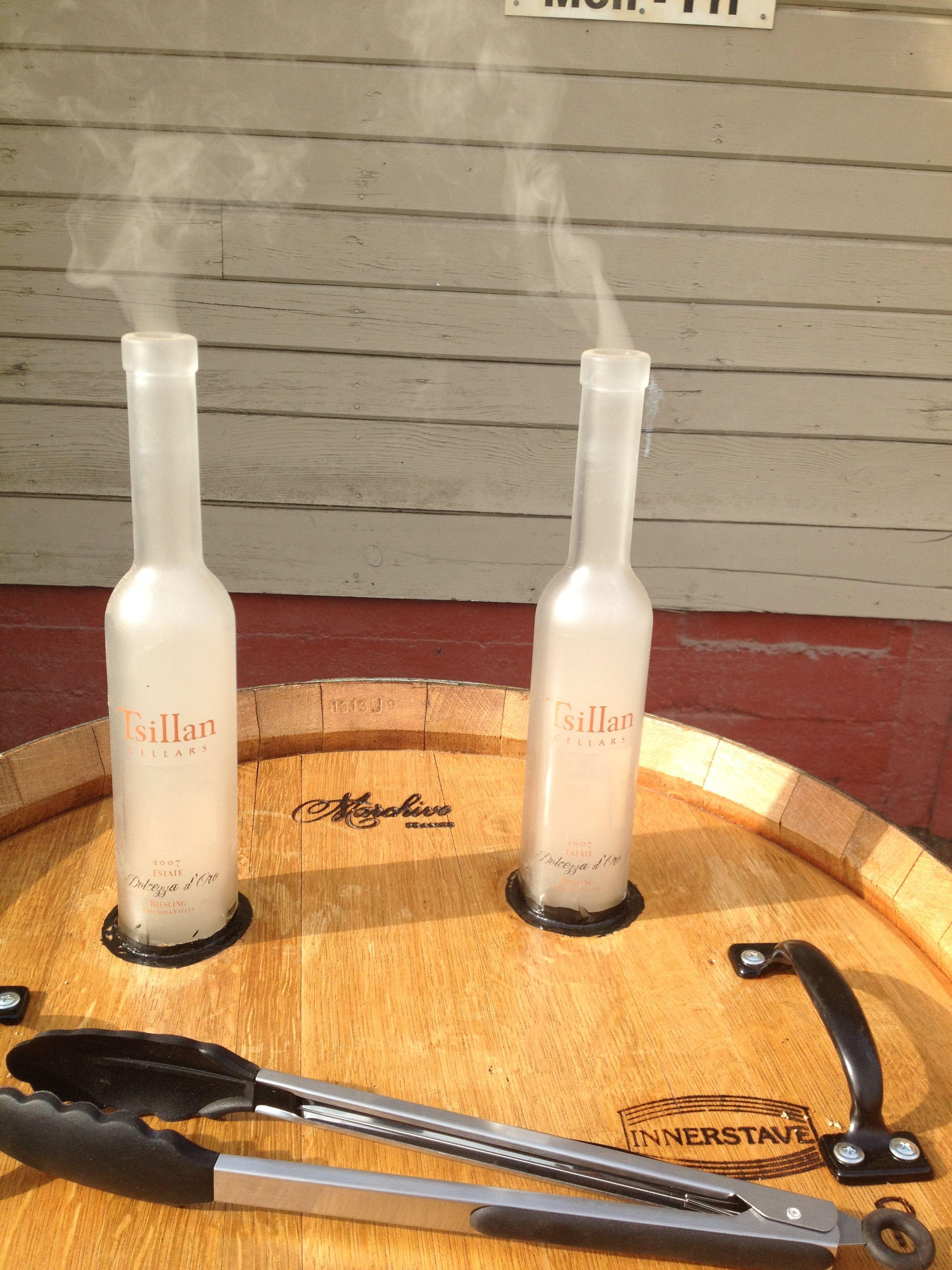 stack wine barrels. Smoke Stack, Tsillan Cellars Wine Bottles Stack Barrels