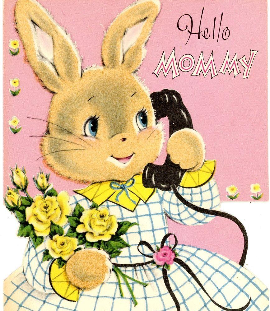 Vintage Norcross Easter Greeting Card Die Cut Glittered Rabbit 574