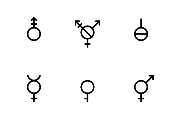 Genders Icons By Claudia Gruber Gender Icon Icon Set