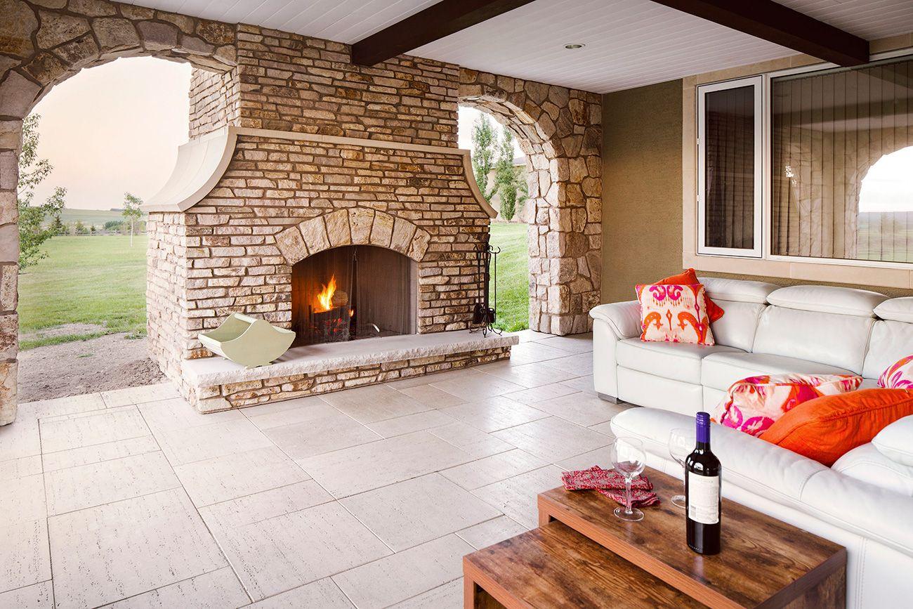 Lynn Donaldson & Associates // Exterior // Deck // Stone Arches // Outdoor Fireplace // Outdoor Living // Outdoor Dining