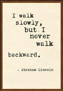 Always moving forward.