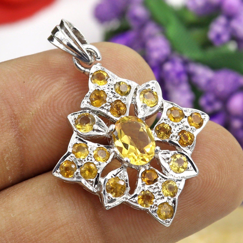 Citrine Brooch Sterling Silver Womens Brooch Citrine Jewellery Womens Jewellery Natural Citrine 925 Silver Handmade Jewellery Gift For Her