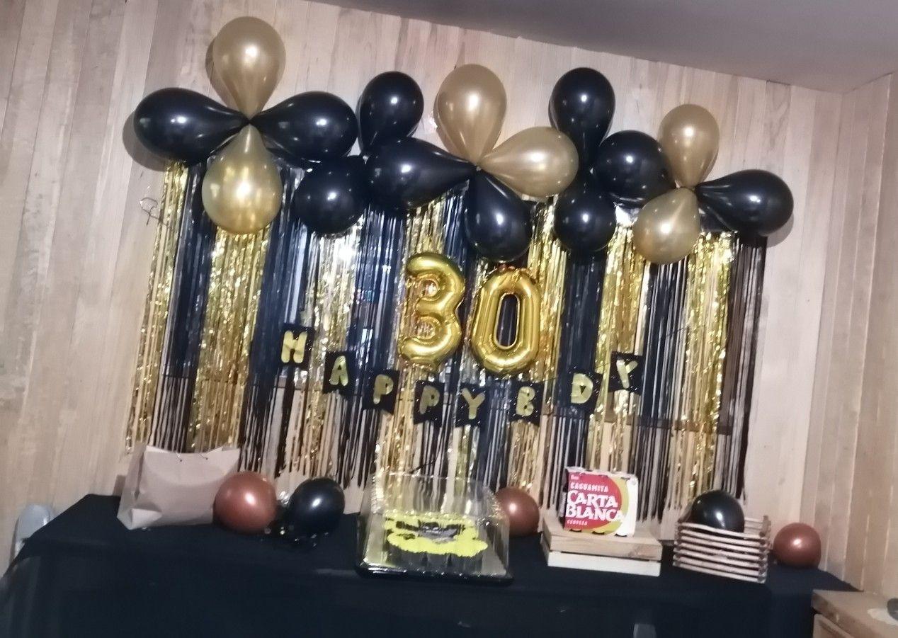 Decoración 30 Ideas De Decoración De Cumpleaños Fiesta De Oro Fiesta De Hombres