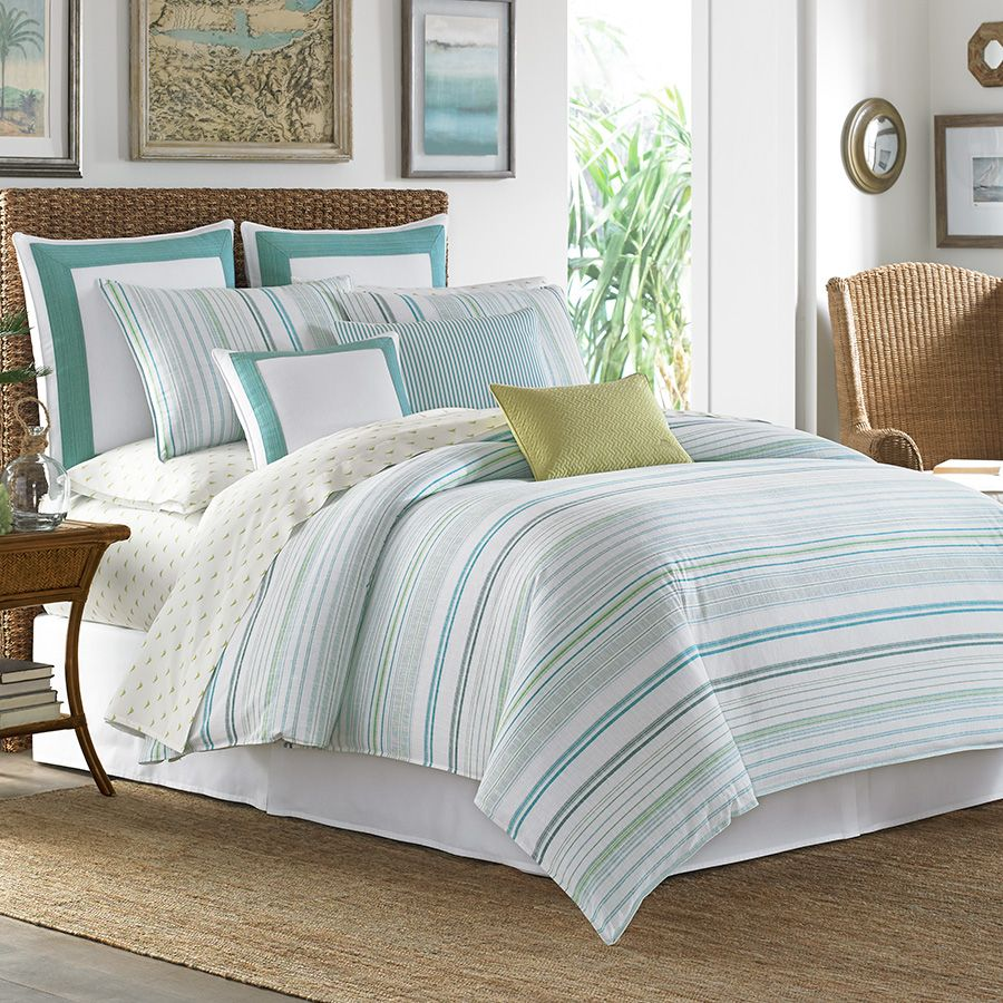 Tommy Bahama La Scala Breezer Seaglass Comforter and Duvet Set ...