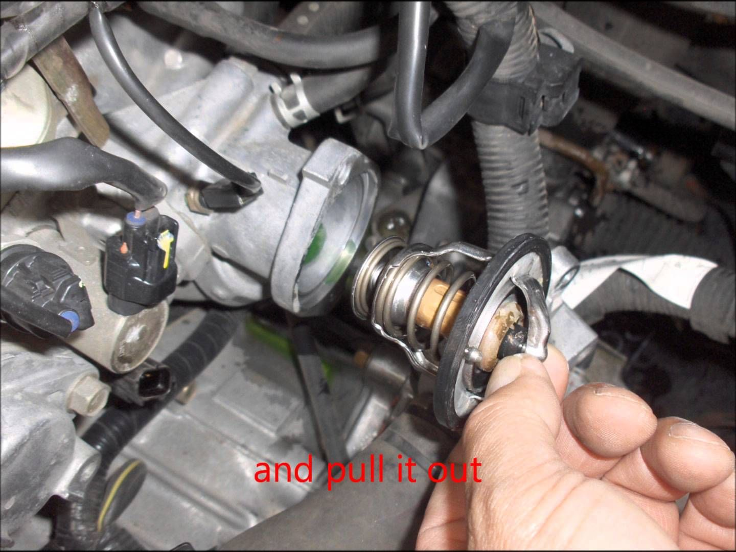 How To Replace 2003 2004 2005 2006 Mitsubishi Outlander Thermostat Mitsubishi Outlander Car Repair Diy Outlander
