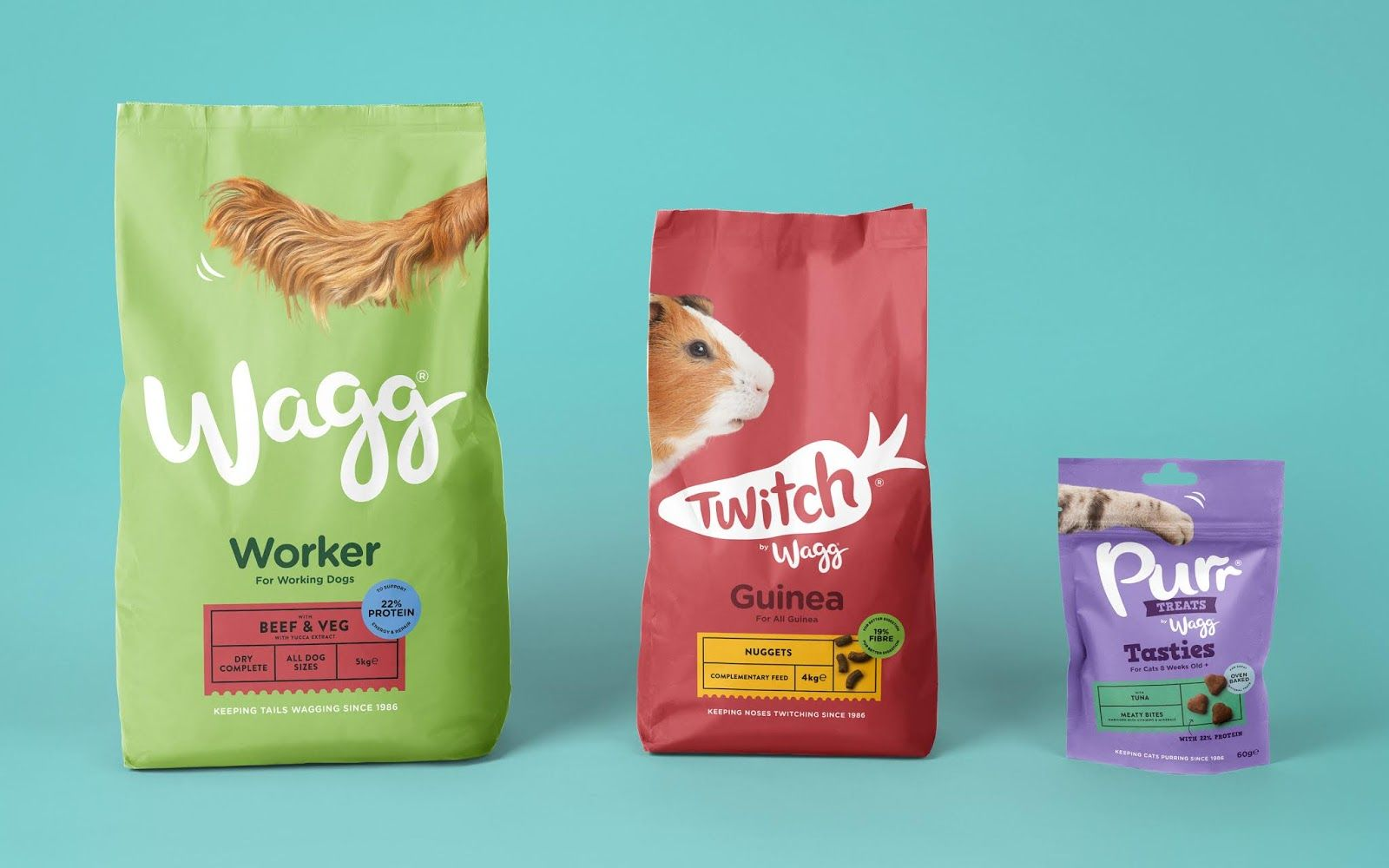 Wagg Rebrand Pet Food Packaging Food Animals Dog Treat Packaging