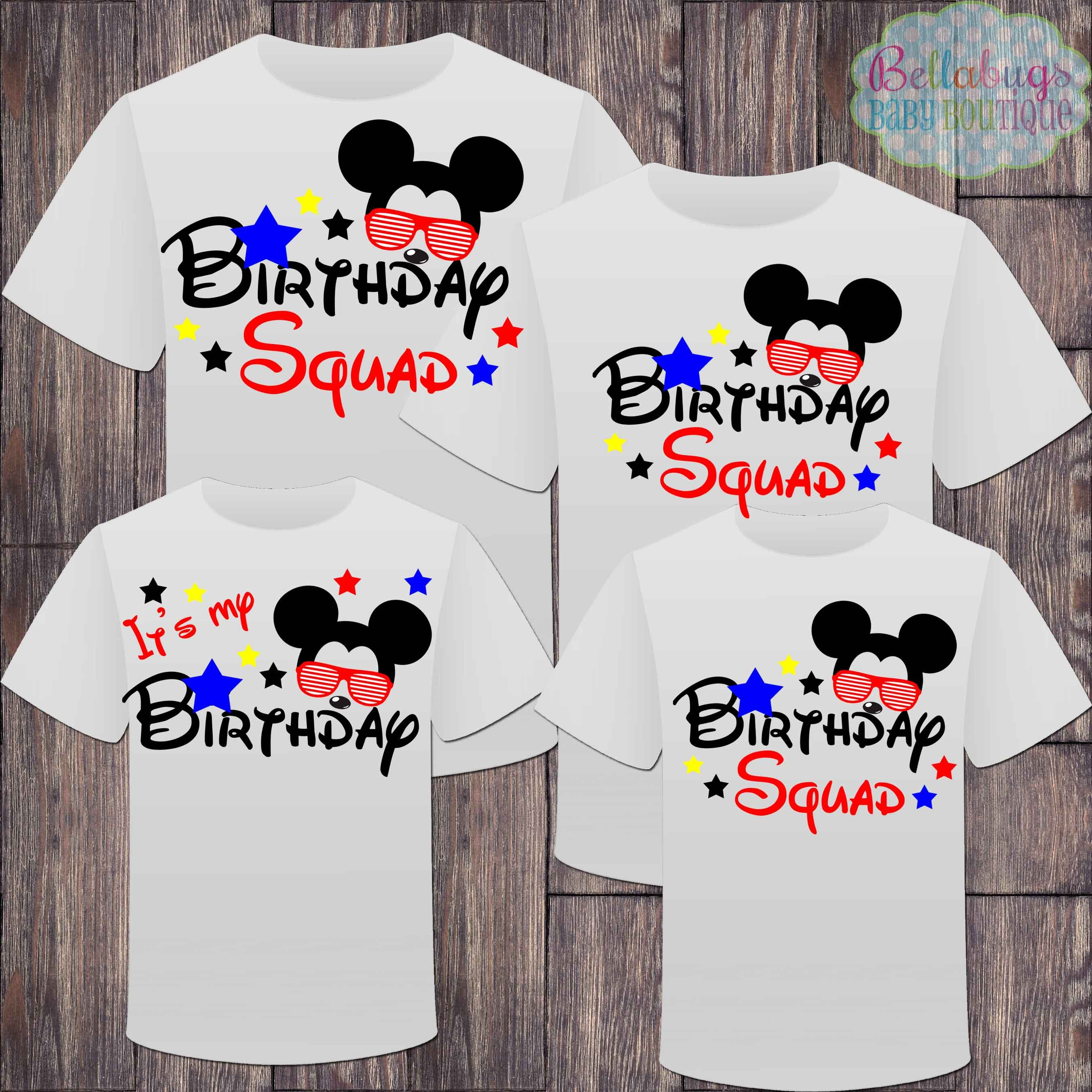 02a24b4d1831 Matching Birthday Boy It s My Birthday Tshirts - Mickey Mouse Birthday -  Birthday Squad - Matching Birthday Shirts - Sunglasses Mickey by  BellabugsBaby on ...