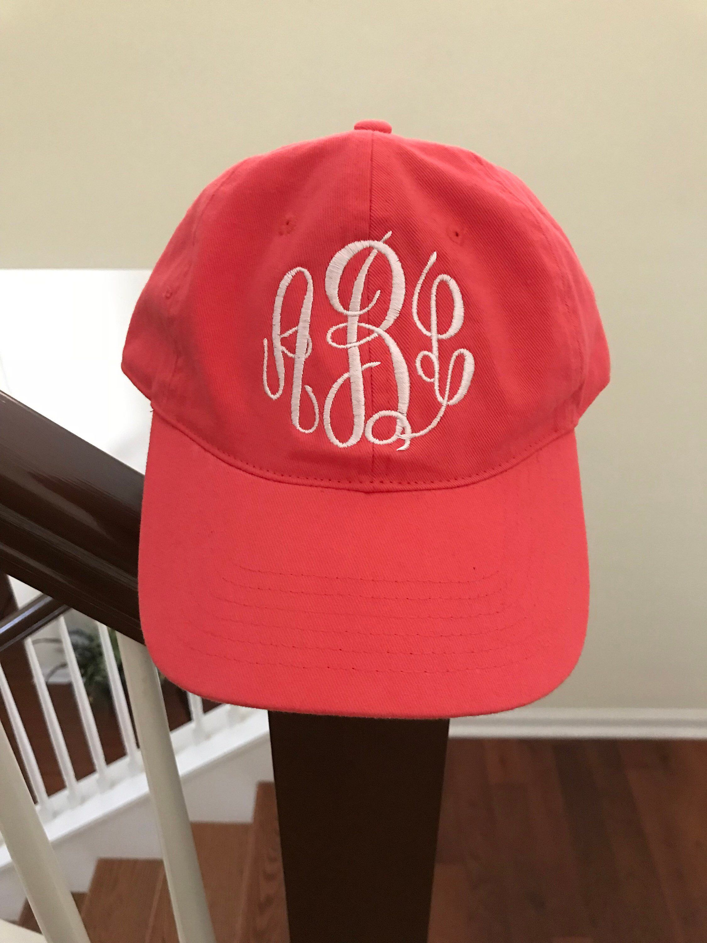 8db5516e193 Excited to share this item from my  etsy shop  Womens Baseball Cap - Monogram  Hat - Personalized Hat - Monogram Baseball Hat - Summer Accessories -  Monogram ...