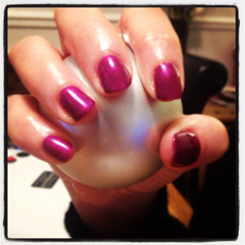 Gelish starburst nails