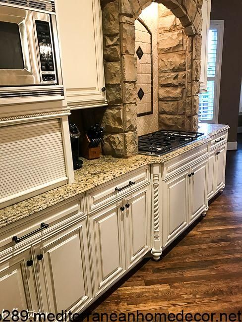 Photo of tuscan-kitchen-update-painted-cabinets-same-granite – Bella Tucker