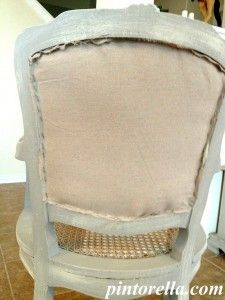 how to replace cane back chair with fabric bernhardt brown leather club replacing paint the town pinterest repair furniture refinishing diy