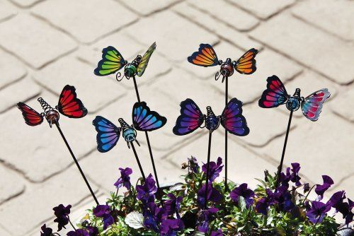 6 Assorted Mini Butterfly Garden Stakes By Outdoor Decor. $17.99